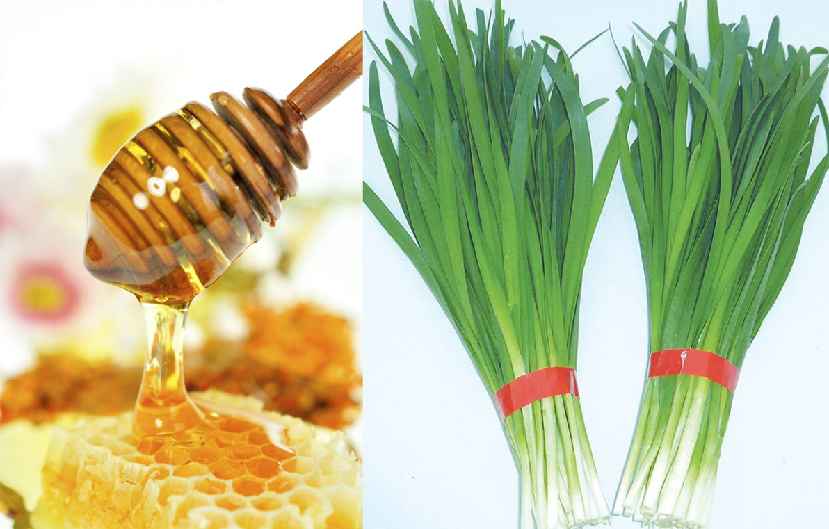 蜂蜜和韭菜可以一起吃吗(韭菜和疯子一起吃会出现什么副作用)