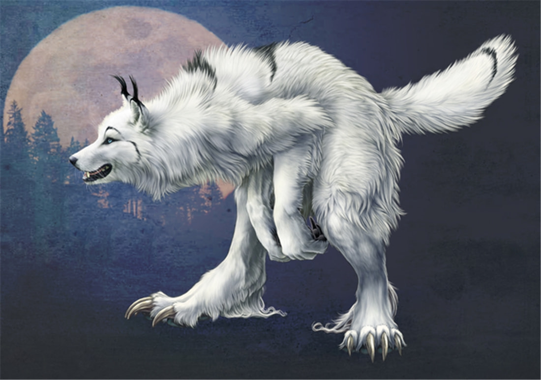 """长白山多次出现""""狈"""",最早记载于西汉,奔跑时前腿搭在狼身上"""